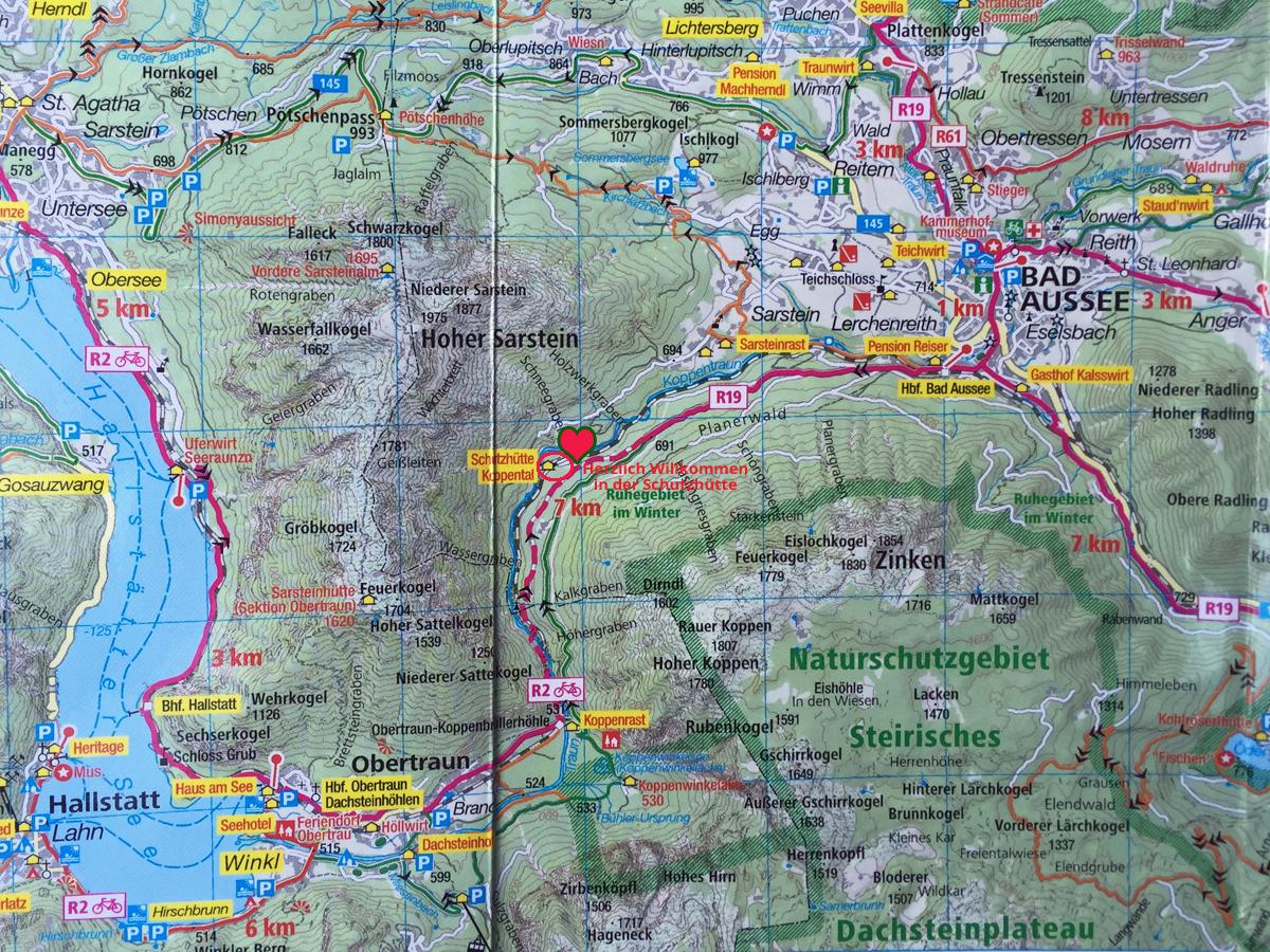 Koppental Wanderweg Karte